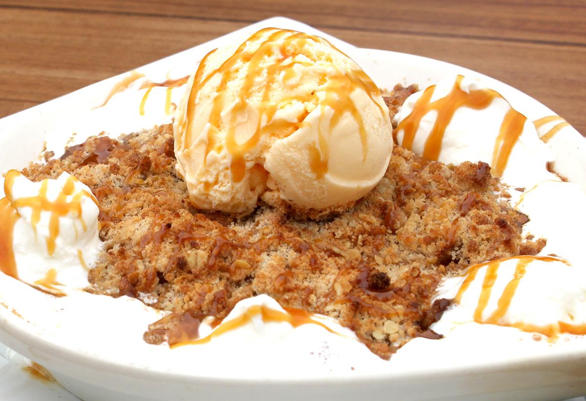Caramel Apple Crisp A LA MODE