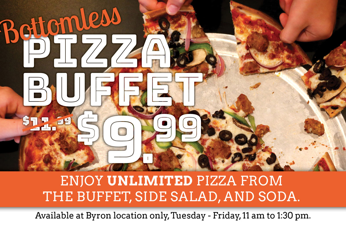Awe Inspiring Bottomless Pizza Lunch Buffet Byron Only Wildwood Home Interior And Landscaping Fragforummapetitesourisinfo