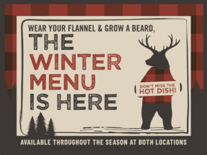 Wildwood Sports Bar new winter menu, new seasonal menu