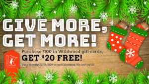 Wildwood Holiday Gift Card Special
