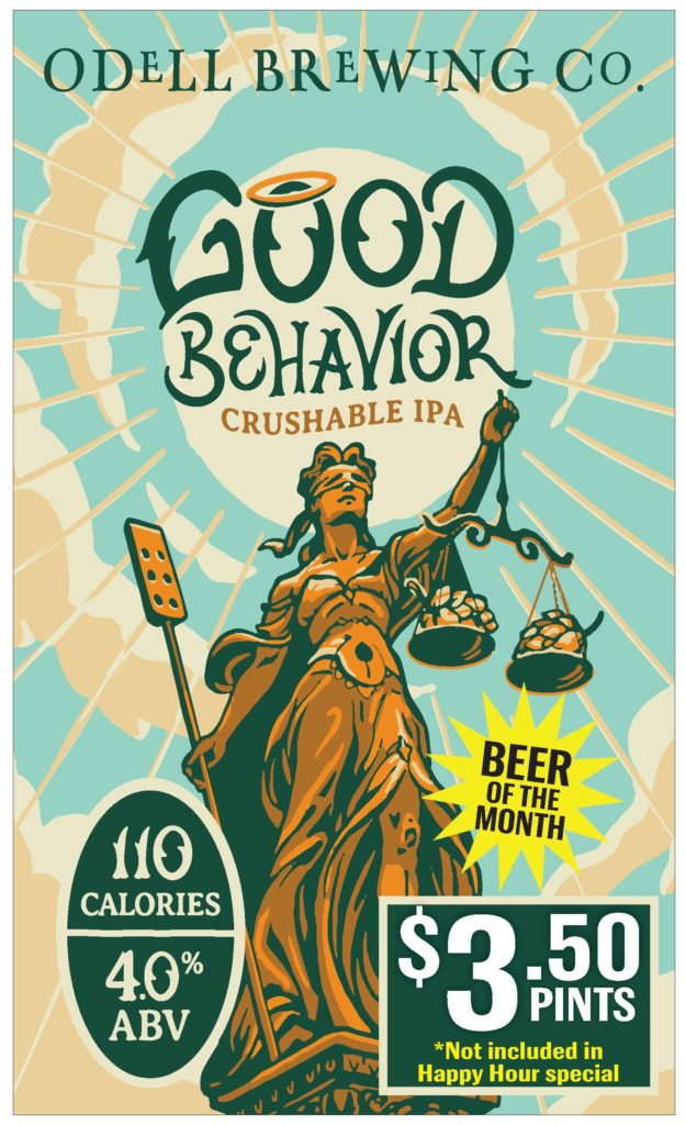 Beer of the Month: Good Behavior Crushable IPA from Odell Brewing
